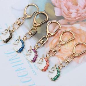 Stylish Unicorn Keychain Key Ring Chain Girls Lovely Bag Purse Charm Key Ring AA