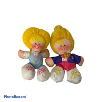 💕 1987 PLUSH MINI DOLLS BLONDE GIRLS SMOOSHIES VINTAGE FISHER PRICE