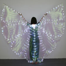 LED Butterfly Wing Belly Dance Costume Isis Wings Xmas Light Up Show Dancing