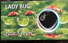 Love Pearl Lady Bug Necklace