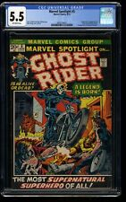 Marvel Spotlight #5 CGC FN- 5.5 Off White 1st Ghost Rider! Comics