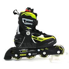 Roces Boys/Kids/Girls Inline Roller Skates/Inline Adjustable Green/Black US 4-7