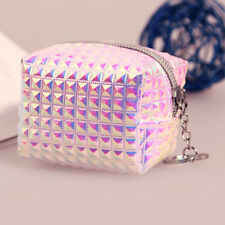 Fashion Girls Hologram Mini Coin Change Purse Wallet Holographic Laser Zip Bags