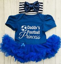 BABY GIRL Daddy's FOOTBALL PRINCESS Outfit Newborn PRESENT Love Gift DADDYS GIRL