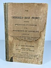 Antique 1874 JF Burrowes Thorough Bass Primer Book Music 5th Ed Hardback