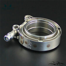 "2.25"" Inch 57mm V Band Clamp Turbo Downpipe Stainless Steel Female Male Flange"