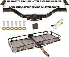 TRAILER HITCH + CARGO BASKET CARRIER + SILENT PIN LOCK TOW FITS 13 INFINITI JX35