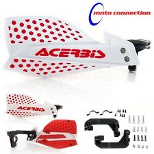 NEW ACERBIS X-ULTIMATE WHITE RED HANDGUARDS BETA 250RR 300RR X TRAINER