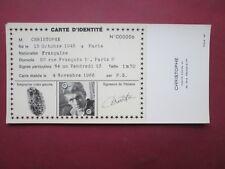 RARE CARTE  IDENTITE PUBLICITAIRE N° 06 CHRISTOPHE 1966 ETAT NEUF