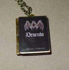 Bram Stoker's Dracula BAT book charm LOCKET necklace, Vampire, Gothic