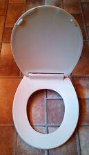 Beneke Quality Solid Plastic Round Front Toilet Seat 420 Kohler JERSEY CREAM