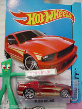 Case E/F 2014 Hot Wheels '07 FORD MUSTANG 2007 #95 US~cherry Red~HW City~Mustang