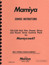 Mamiya 120/220 Roll Film Power Drive & Control Pack for RB67 Repair Manual