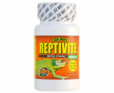 ZOO MED REPTIVITE 2 OZ WITH D3 VITAMIN REPTILE SUPPLEMENT. FREE SHIP IN THE USA