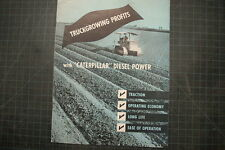 Caterpillar Farm plowing Vintage D2 Tractor Dozer Brochure manual magazine CAT