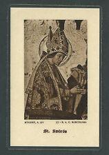 Estampa antigua de San Ambros andachtsbild santino holy card santini