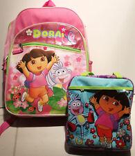 2-SET DORA BACKPACK & LUNCH KIT Bag Box Latina Girls Explorer Nick Spanish NEW