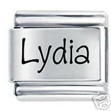 LYDIA Name - Daisy Charm by JSC Fits Classic Size Italian Charms Bracelet