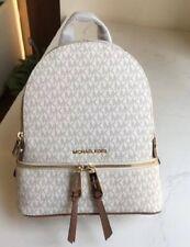 MICHAEL KORS 100% Vanilla MK Signature RHEA Backpack Rucksack Bag NEW & TAGS