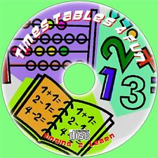 Learn Times Tables 4 Fun Singer Lot de 2/12x Easy 2 Teach & enfants Singalong