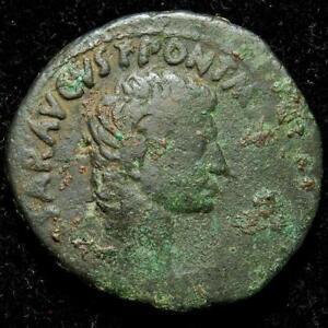 Augustus AE as, moneyers' series, M.Salvius Otho, Rome 7BC - RIC 431