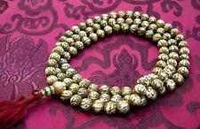 TRAUM MALA aus Yak-Knochen, auf jeder Perle ein OM MANE PADME HUM geschnitzt!