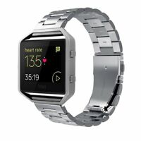 Simpeak Stainless Steel Band with Frame For Fitbit Blaze Smart Fitness Watch