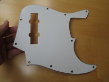 MIGHTY MITE BASS PICKGUARD in WHITE - FITS A FENDER JAZZ J BASS GUITAR BODY
