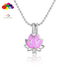 Aroma Diffuser Lotus Mini Necklace Lockets Perfume Essential Oil Aromatherapy