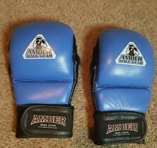 Amber MMA Gloves, Blue, Sz. Md.
