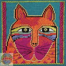 Cross Stitch Kit ~ Laurel Burch / Mill Hill Wild Orange Cat #Lb30-5111 (Aida)