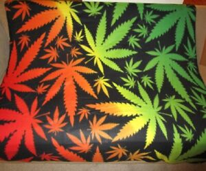 420 Marijuana Pot Leaves Leaf Fleece Throw Blanket Reversible Gift Smoke Weed