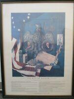 """Framed Bill of Rights Print 19"""" x 25"""""""