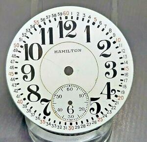 Good 16s 21 jewel Hamilton 992  Pocket Watch Dial and Hands- 21j
