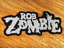 Rob Zombie Horror White Metal Rock Music Band Sew Iron On Embroidered Patch