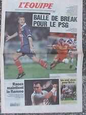 L'Equipe du 31/10/1997 - Le PSG - Choc pour Brive - Raoux