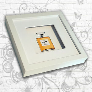 Perfume Print 'No.1' Sister/Mum/Daughter Art Box Frame (Gold)
