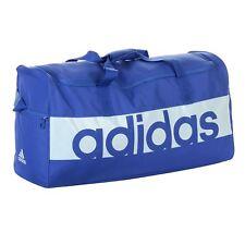 adidas Duffel Bag Holdall Linear Sports Performance Blue Medium 22 X 30 X 57cm
