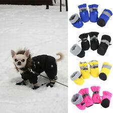 4PCS Puppy Pet Dog Boots Anti-slip Paw Protect Rain Socks Shoes