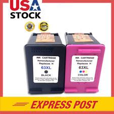 2PK Black & Color Ink Cartridges for HP 63XL Deskjet 1110 1112 2130 3631 3632