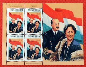 ZAYIX - 1998 Montserrat 946 MNH SS - Charlotte & Felix of Luxembourg