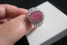 Heating Natural Ruby Sterling Silver Fine Rings