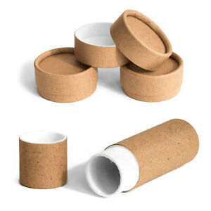 Eco Bio Card Empty Tubes Pots Jars Round Containers Cosmetics Lip Balm Beard Wax
