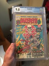 Daredevil #121 CGC 9.8 Off White-White Pages!   Cool Hydra Logo On Cover!