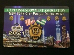 2021 NYC CEA Captains Endowment Association NYPD Card PBA $45 or Best Offer