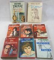 Lot 8 livres de Henri TROYAT - Viou - Le Moscovite x3 - Anne Prédaille - romans