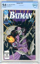 Batman  #451  CBCS   9.4   NM   White pages  Joker cover & App. 7/90 Direct Edtn
