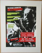JOE STRUMMER The Future Is Unwritten Music Press Poster Type Advert In Mount
