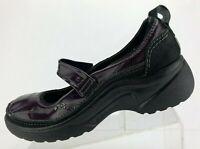 Romika Mary Jane Black Purple Patent Leather Comfort Walking Womens 40 US 9/9.5