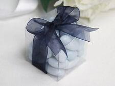 150 5cm Square Cube Bomboneire favour clear plastic box wedding engagement gift